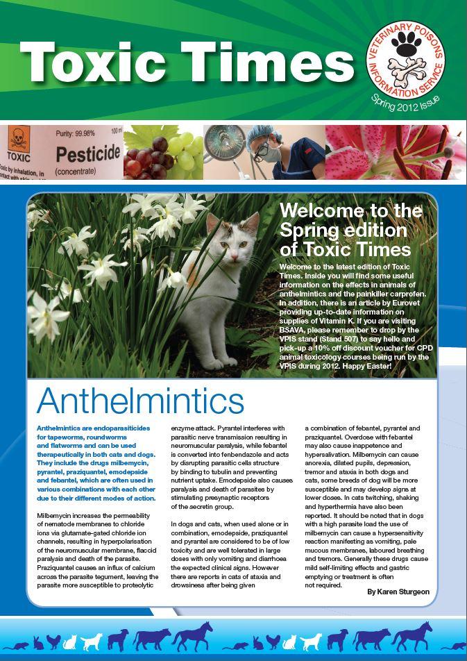 VPIS Toxic Times – Spring 2012
